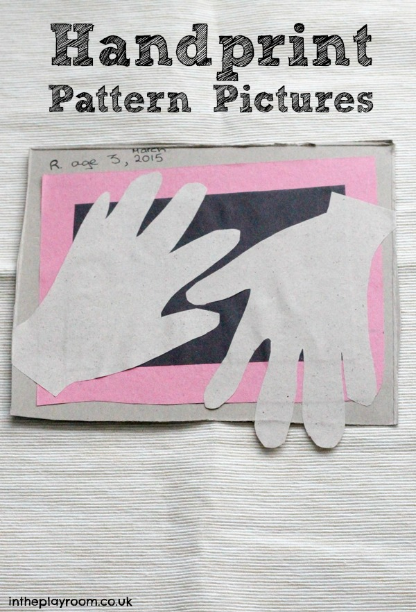 simple handprint pattern pictures for toddlers