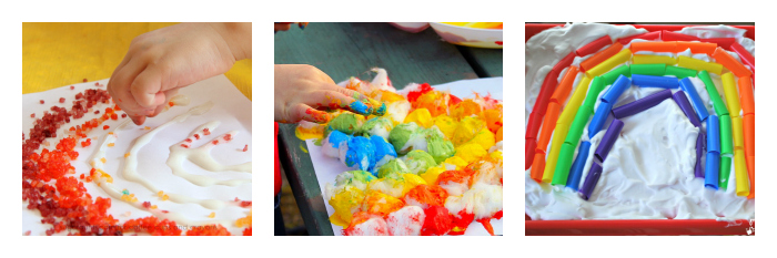 rainbow sensory art