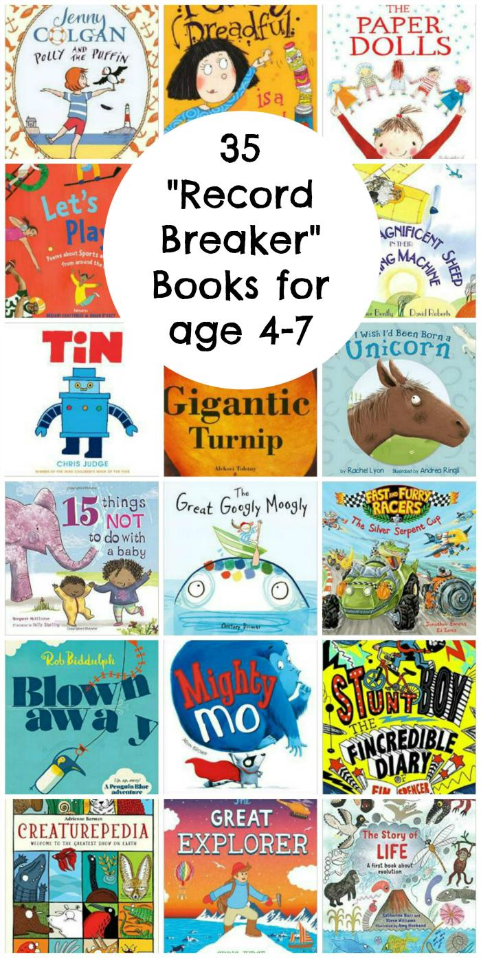 "35 ""record breaker"" books for children age 4-7"
