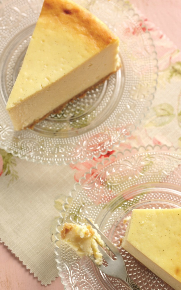 Baked vanilla cheesecake recipe