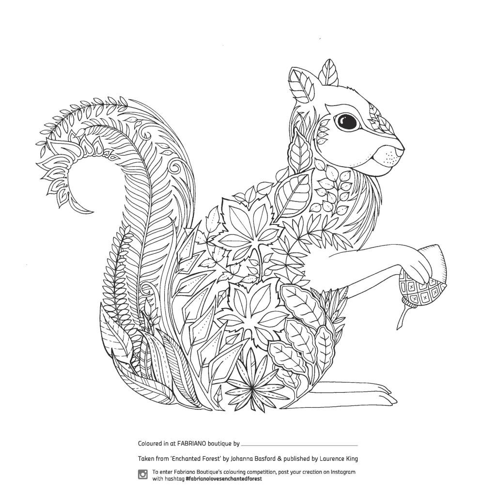 Enchanted Forest Coloring Book Johanna Basford | Hedgehog No ...