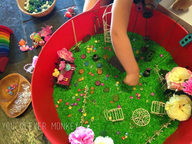 sensory fairy garden