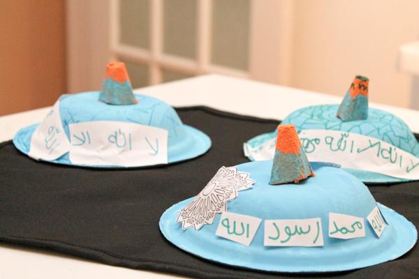 blue turkish mosque dome kids craft