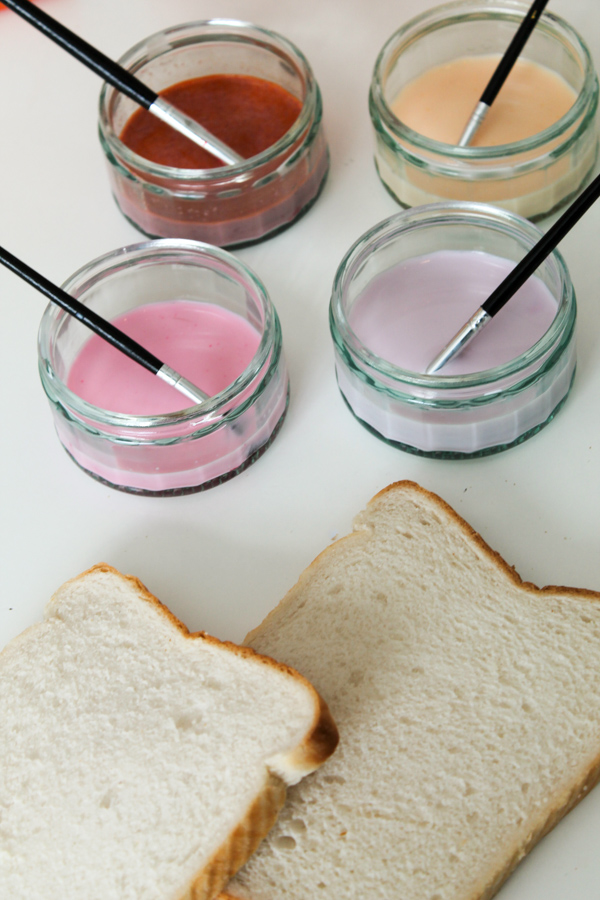 how to make painted toast