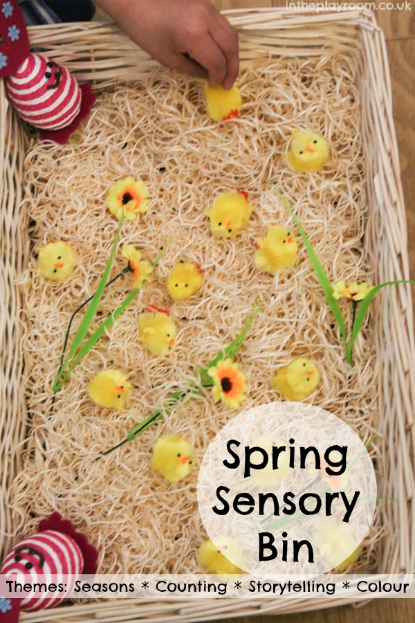 Spring Sensory Bin - In The Playroom