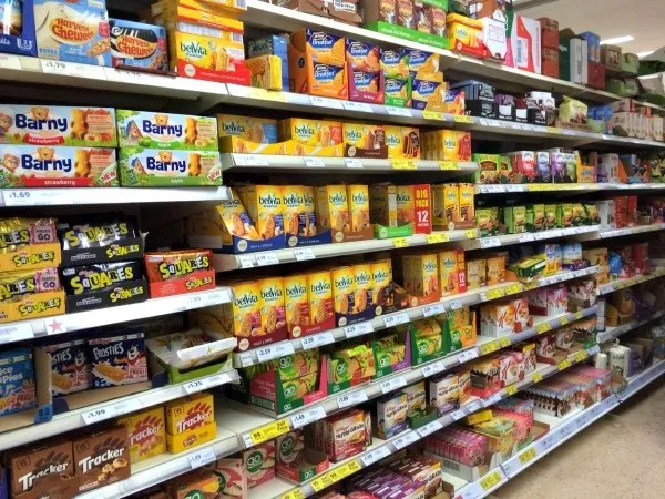 Belvita aisle in tesco