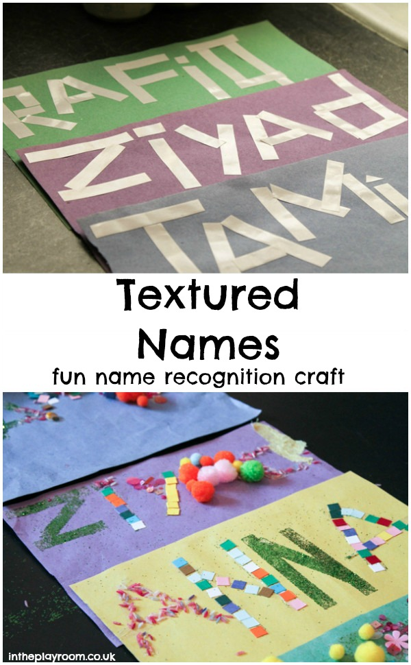 making sticky names, a fun name recognition activity for kids to help them learn the letters in their names