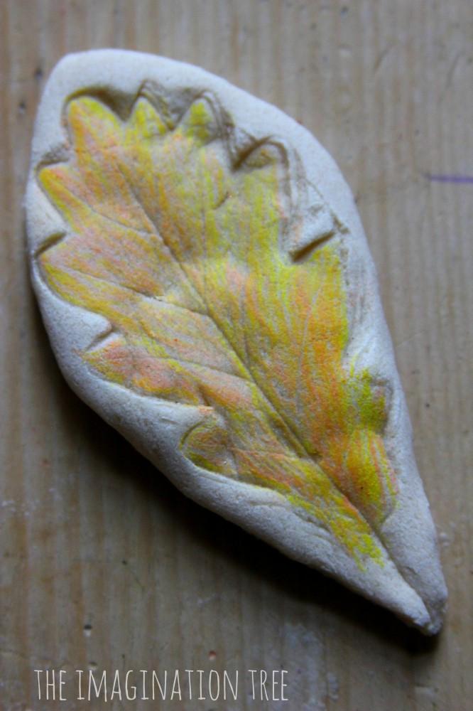 salt dough leaf nature craft