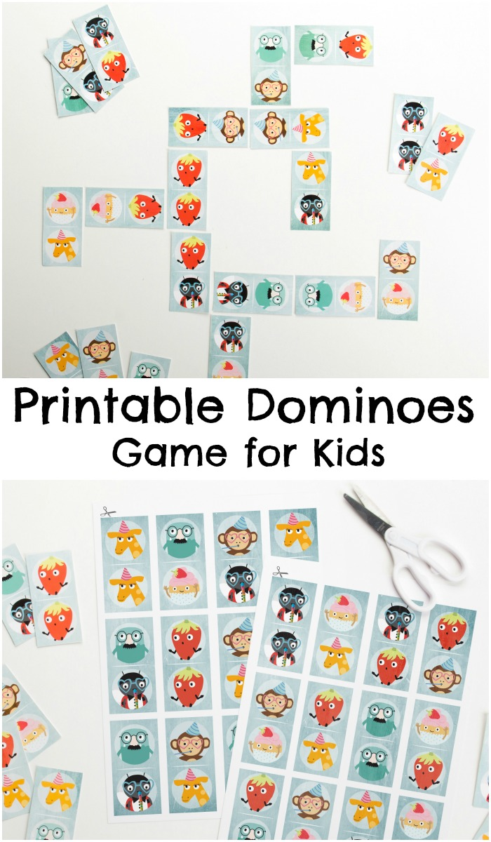 image regarding Printable Dominoes named Printable Dominoes Recreation for Small children - Within The Playroom