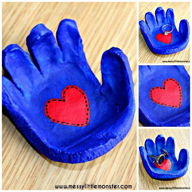 salt dough bowl handprint craft