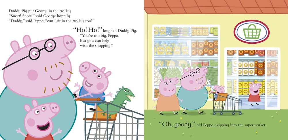 peppa pig let 39 s go shopping peppa in the playroom. Black Bedroom Furniture Sets. Home Design Ideas