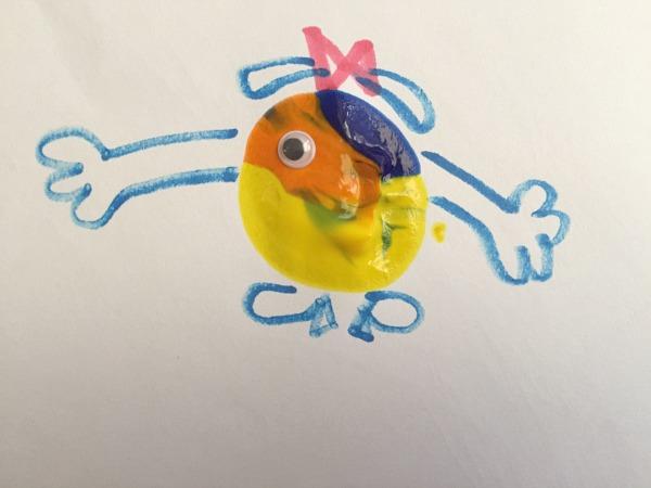 splat painting creatures little Miss