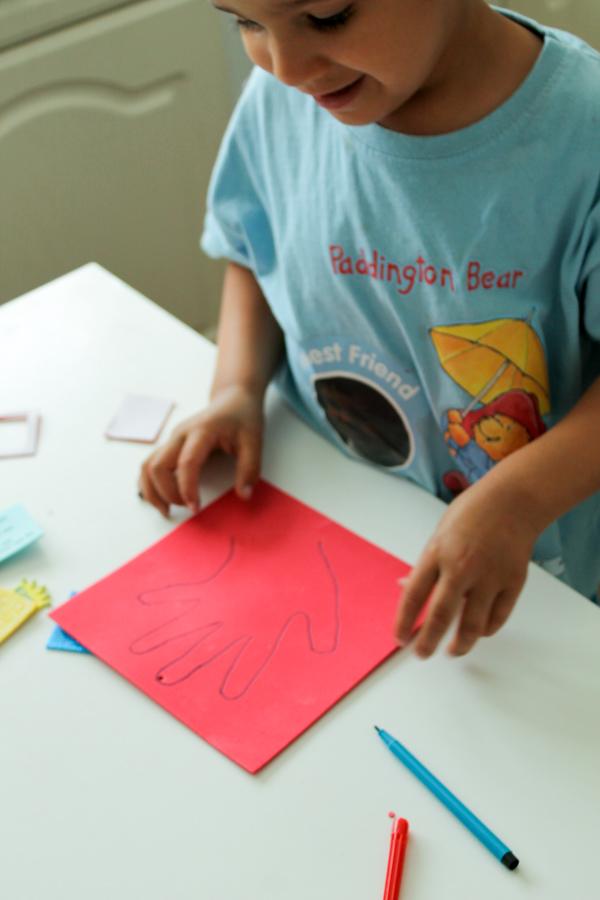 making a handprint