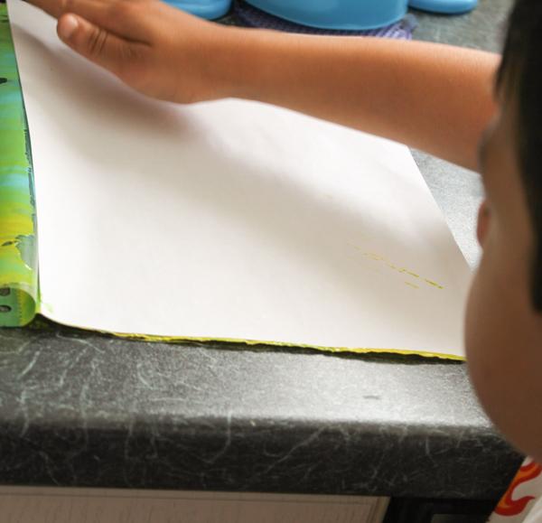 making a paint print