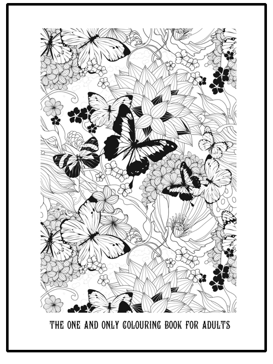 Free Printable Grown Up Colouring Page With Butterflies And Flowers Beautiful Detailed