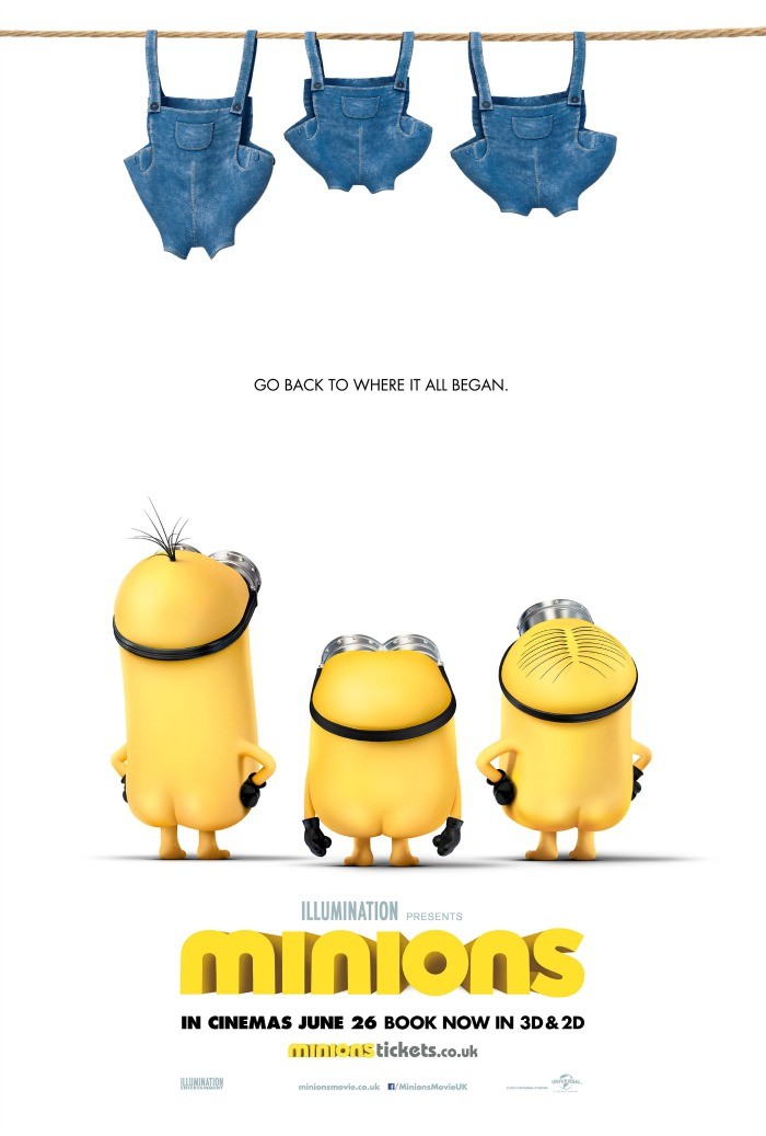 "Minions Movie poster. ""Go back to where it all began"""