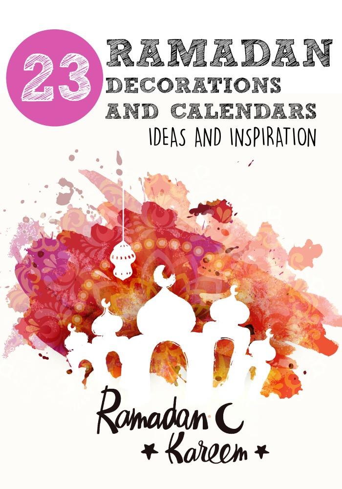 Ramadan decorations. Lots of ideas and inspiration for Ramadan decorations and calendars for kids