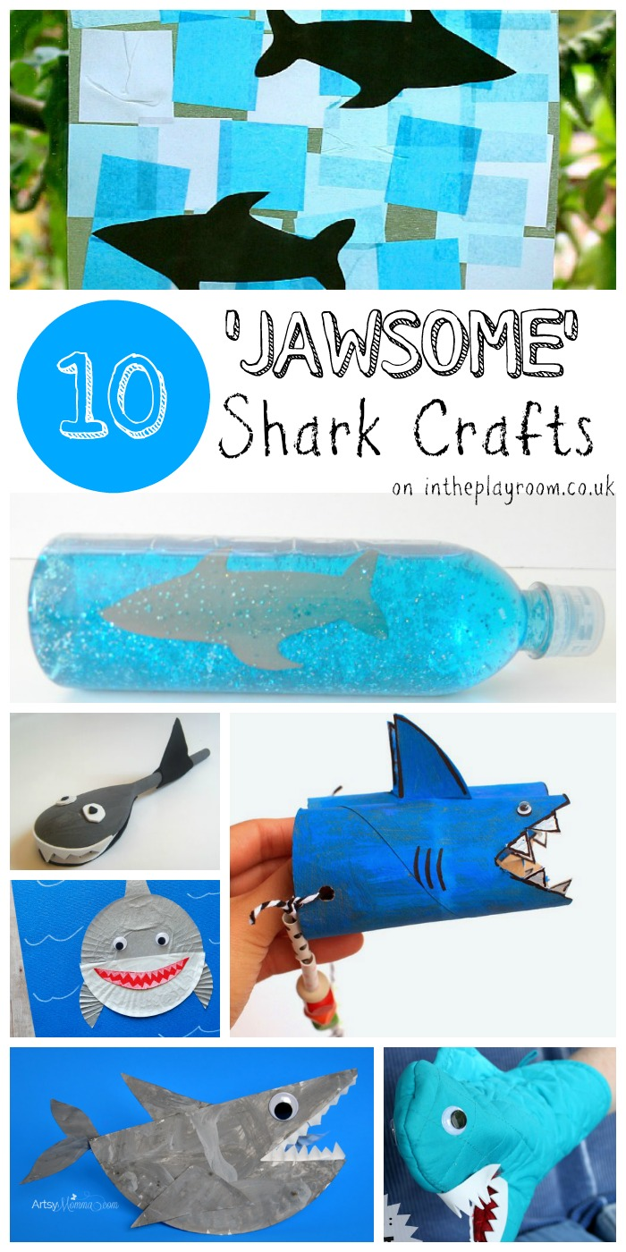 10 Jawsome Shark Crafts for Kids - In The Playroom