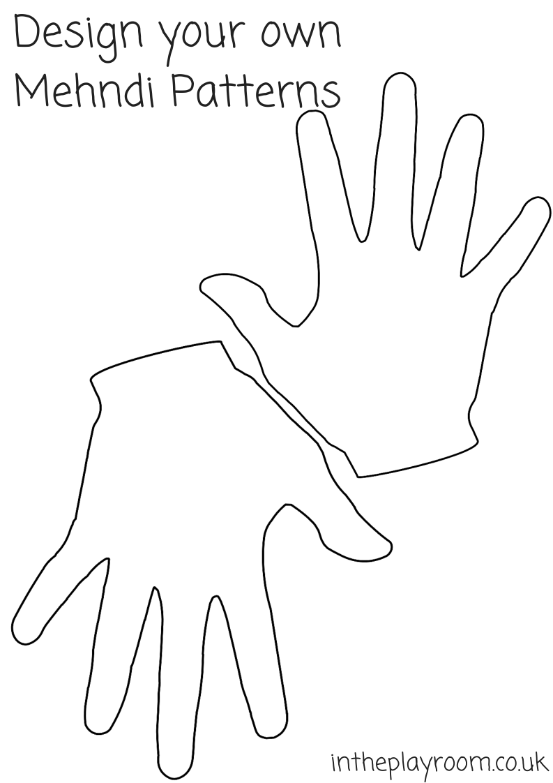 image relating to Hand Printable referred to as Mehndi Hand Colouring Webpages - Within just The Playroom