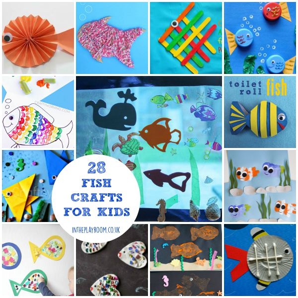 28 fish crafts for kids to make including handprints, toilet roll crafts, paper crafts and more