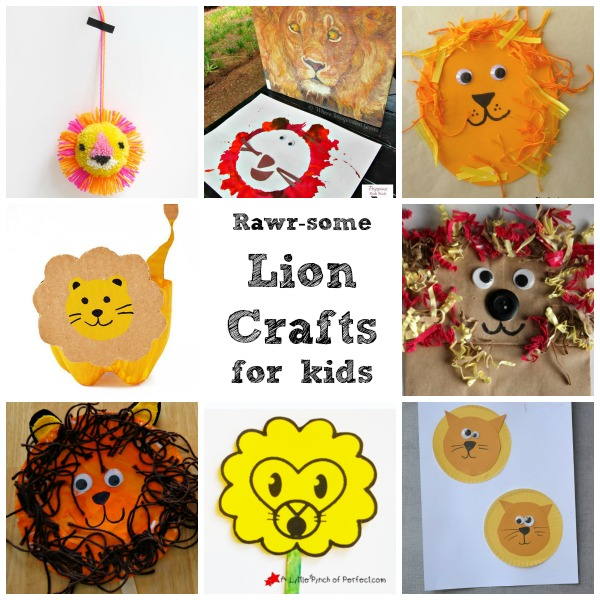 Rawrsome lion crafts for kids