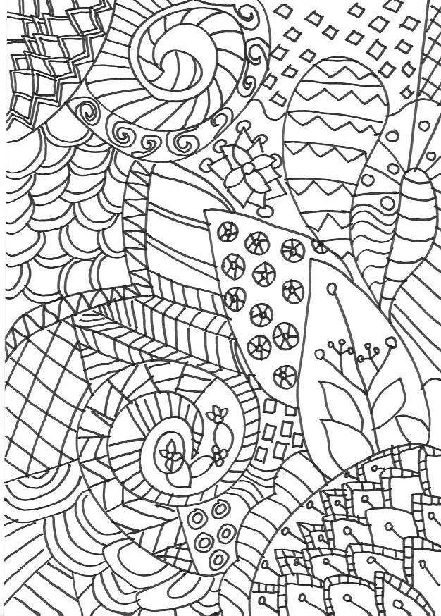 zentangle colouring page detailed grown up colouring page for adults or older children inspired - Zentangle Coloring Pages