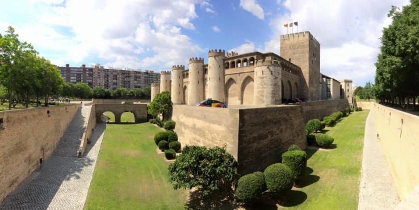 aljafaria palace in zaragoza spain