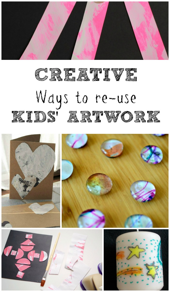 Creative ways to re-use kids artwork These can make great DIY gifts with a personal touch