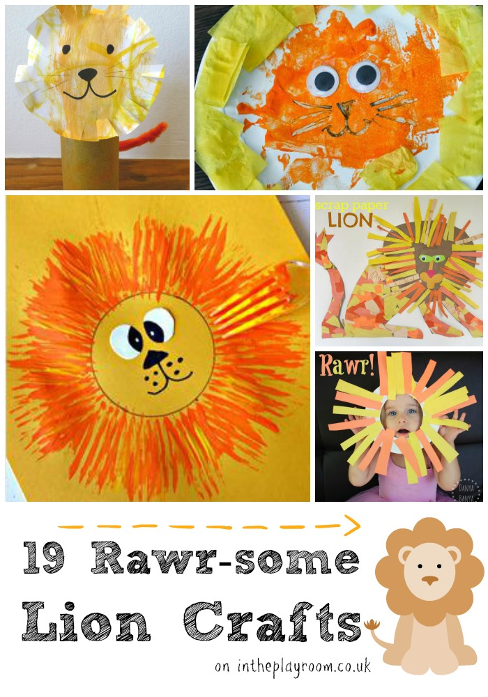 19 rawrsome lion crafts for kids to make, including paper plate crafts, toilet roll crafts, making lion masks and more
