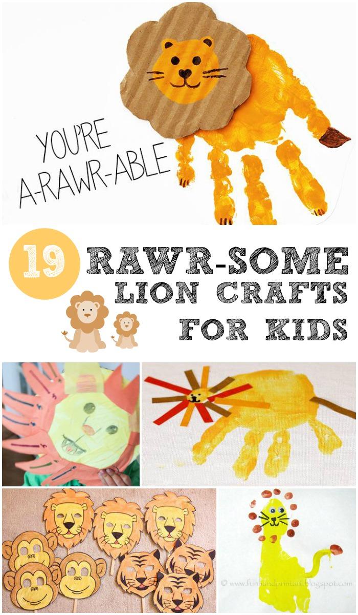 19 rawr-some lion crafts for kids