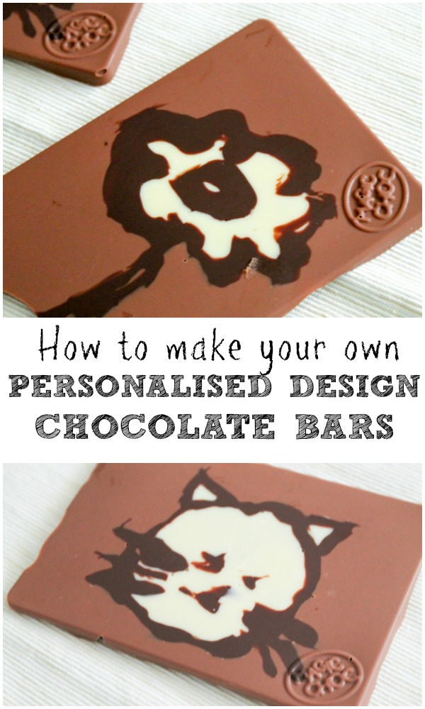 how to make your own personalised design chocolate bars