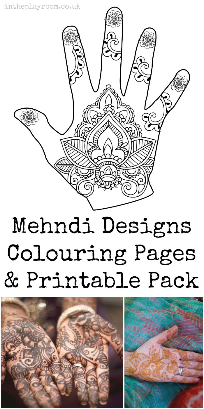 image about Printable Henna Designs named Mehndi Hand Colouring Internet pages - Within The Playroom
