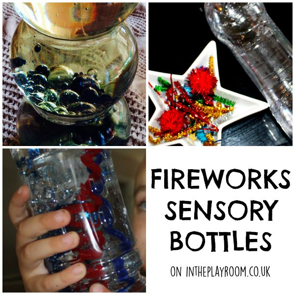 Fireworks sensory bottles and discovery bottles