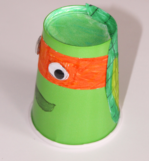 Paper cup teenage mutant ninja turtles kids craft