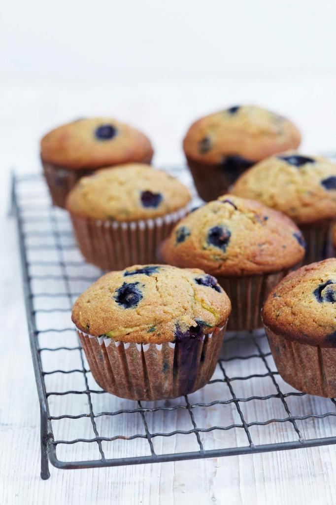 Blueberry & Courgette Muffins Recipe, great healthy muffin recipe for lunchbox, picnic or snack