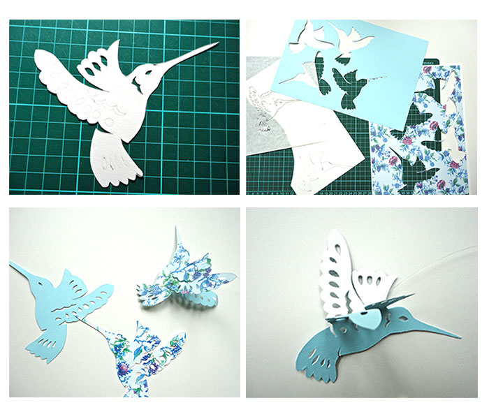 Making your own hummingbird and butterfly mobile
