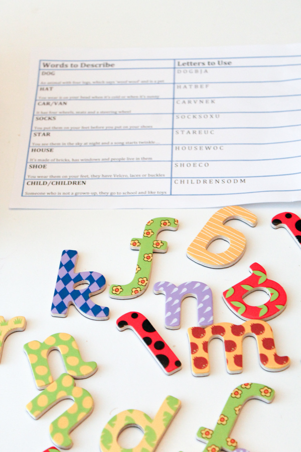 magnetic letters game