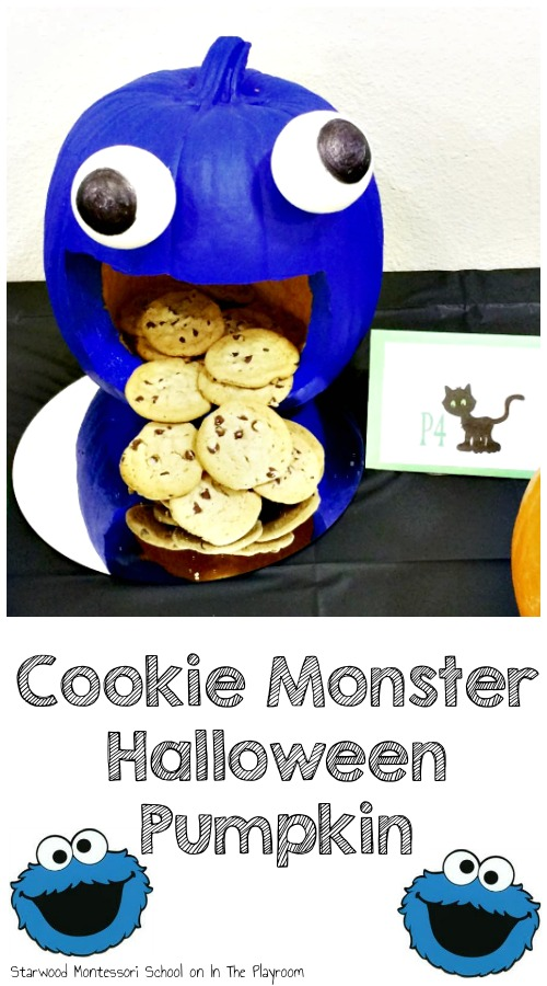 Cookie Monster Pumpkin carving idea for Halloween