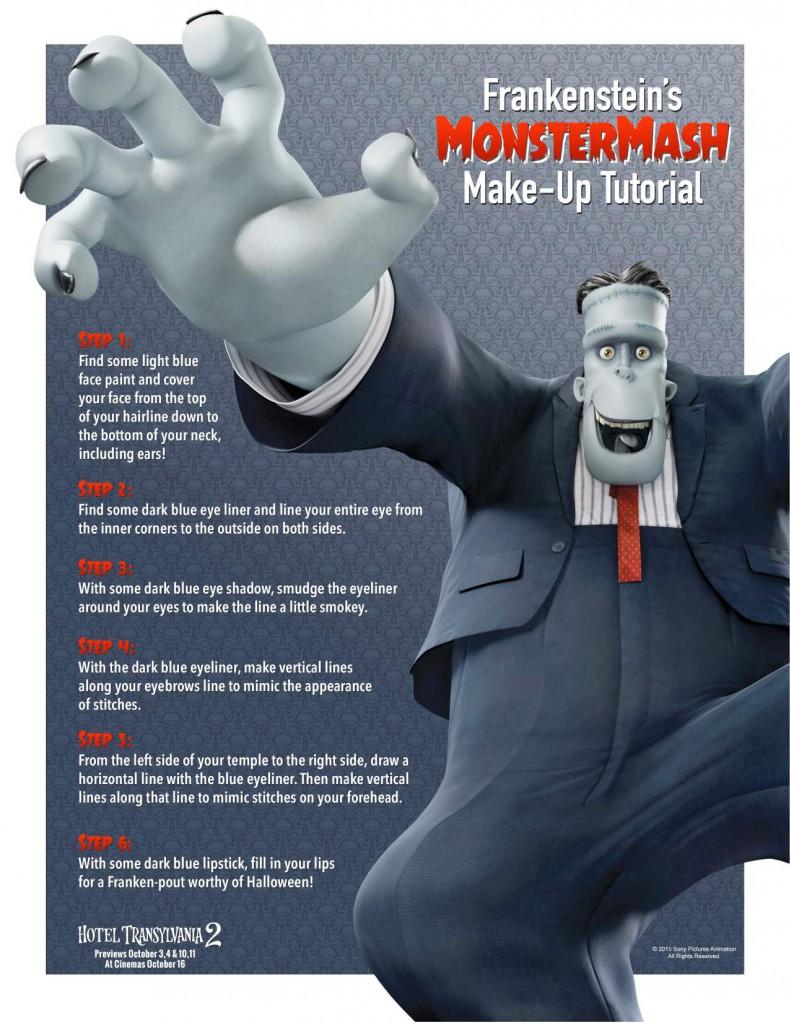 Hotel Transylvania Frankenstein monster make up for Halloween
