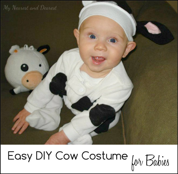 How to make a cow costume for baby from My Nearest and Dearest