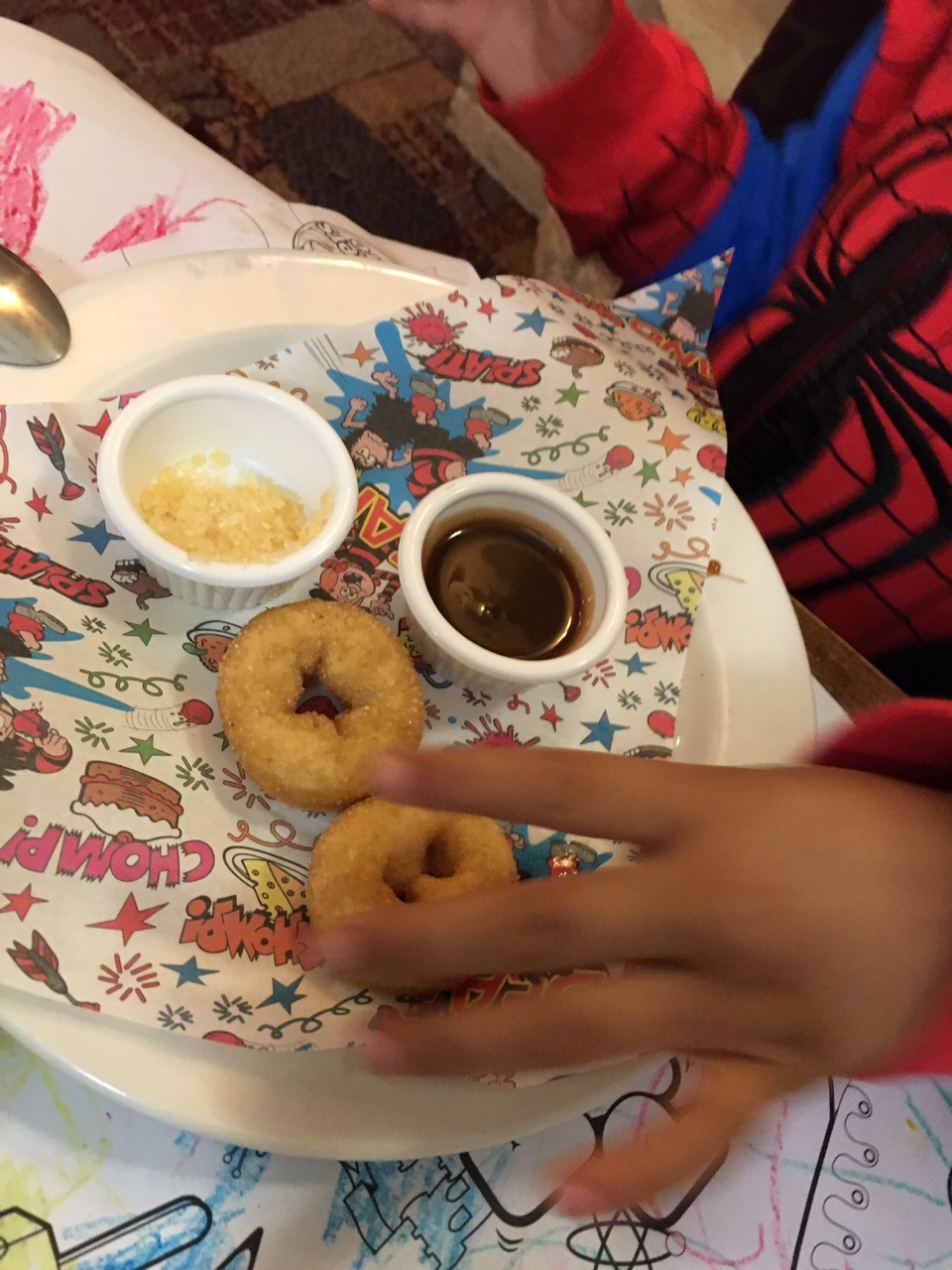 kids doughnuts at brewer's fayre