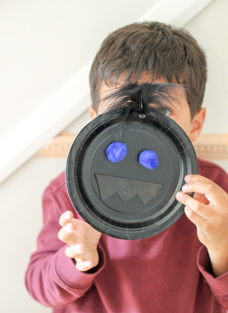 funny face paper plate craft