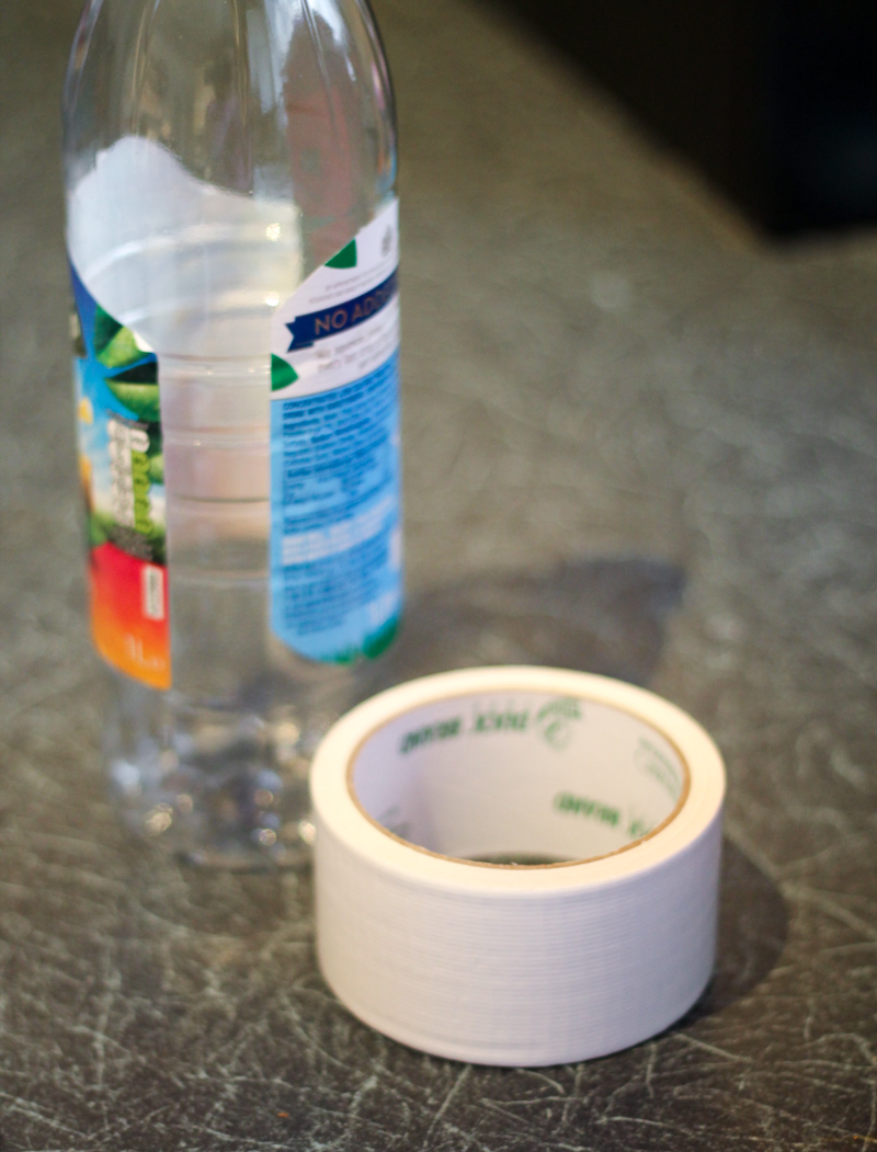 supplies for duck tape plastic bottle ghost