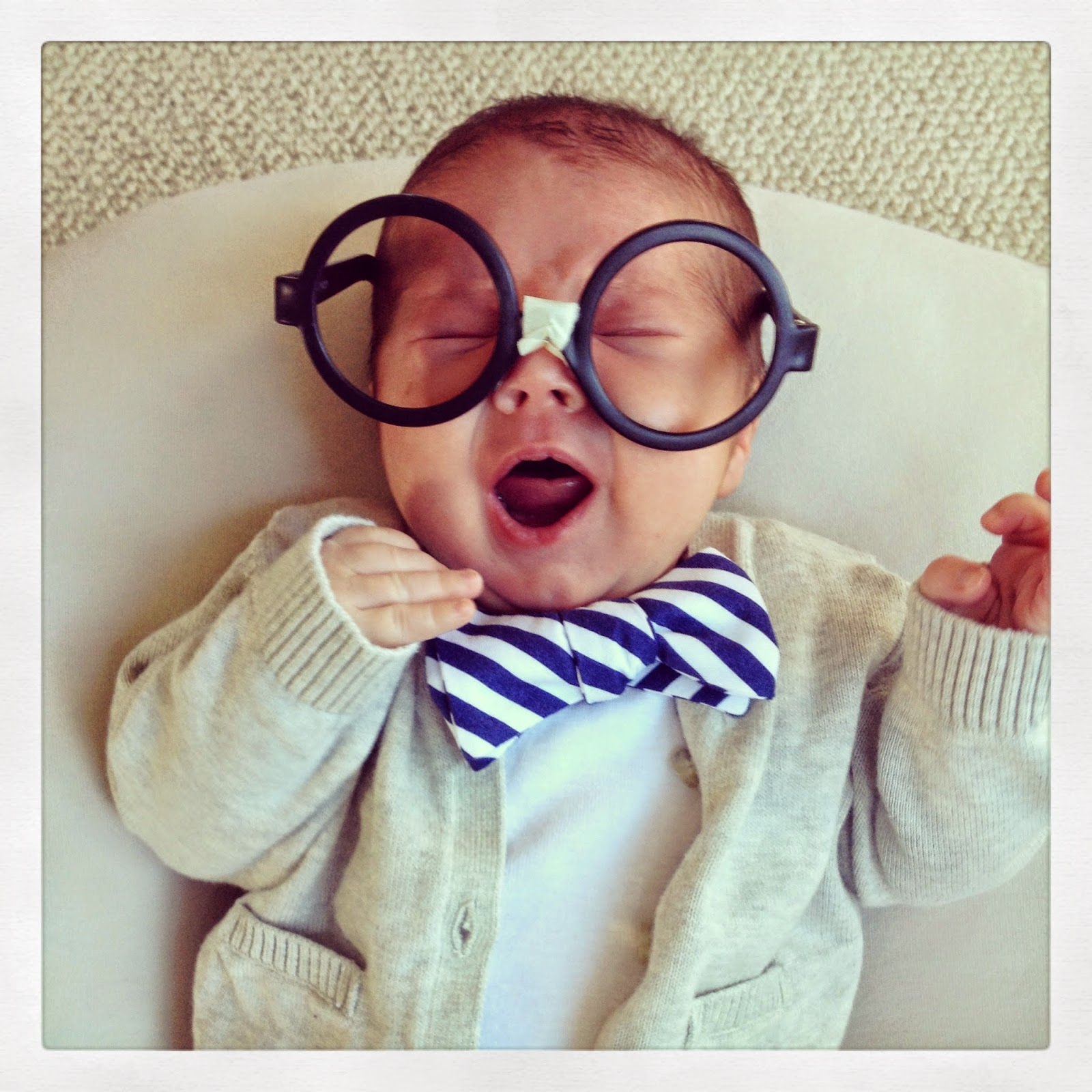 Baby nerd easy halloween costume from Love and Lion