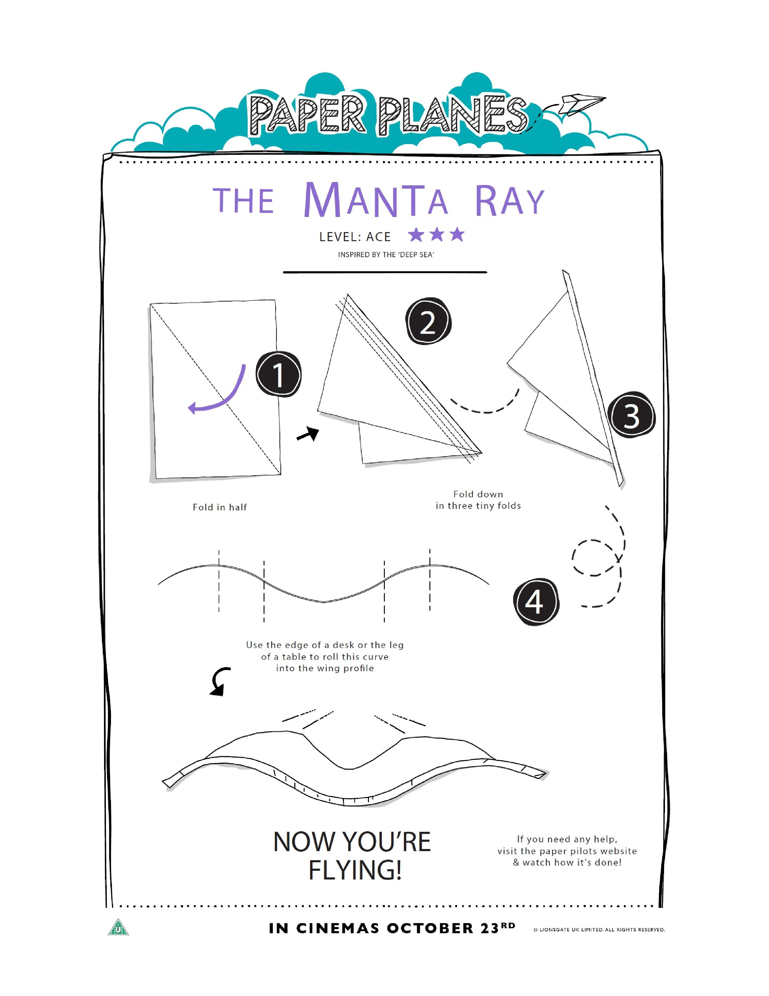 graphic about Printable Paper Airplane Instructions named How towards Fold Paper Planes - In just The Playroom
