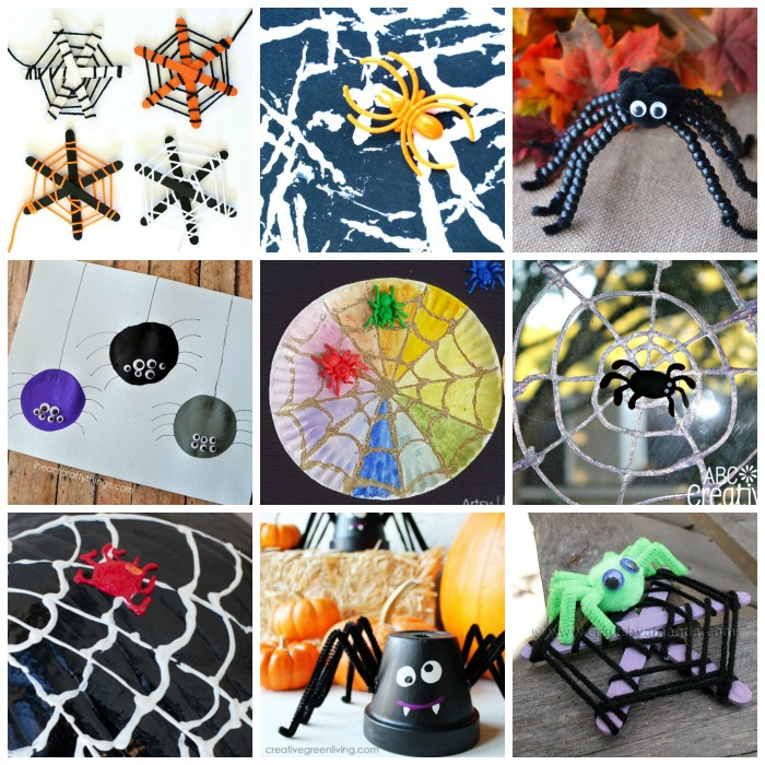 Kids spider crafts for Halloween