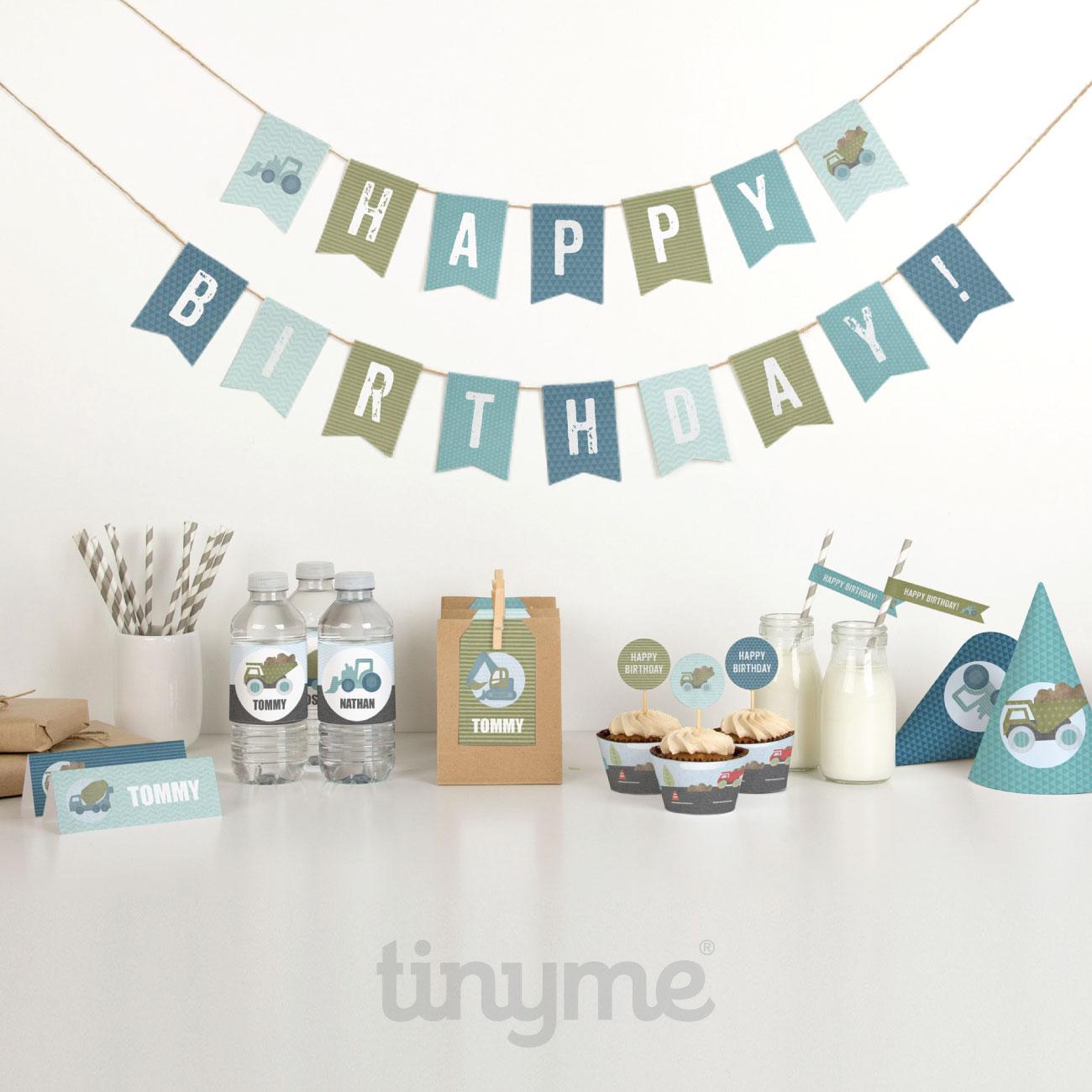 happy birthday construction party printables