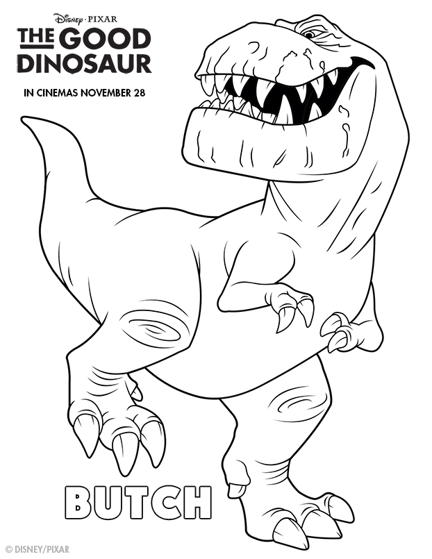 The Good Dinosaur Butch Colouring page