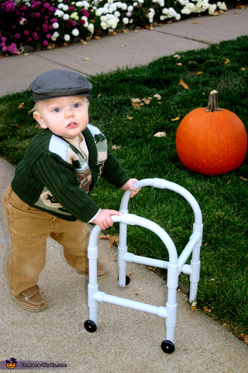 Little old man baby halloween costume