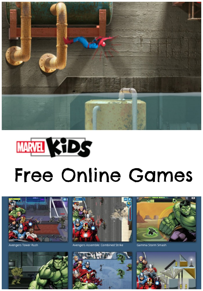 Free marvel kids online games and activities with spider-man and avengers
